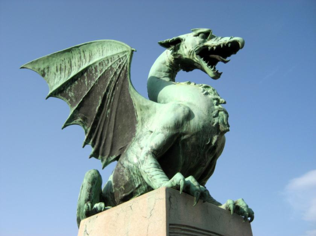 The Dragon Bridge, Ljubljana, Slovenia