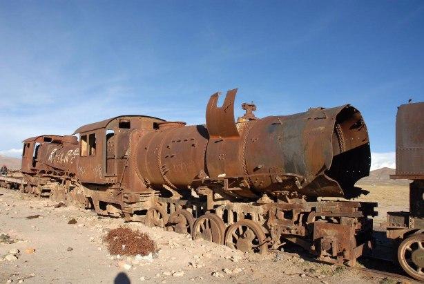Trenes fantasma de Uyuni, Bolivia.