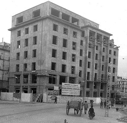 construcción del edificio el trocadero