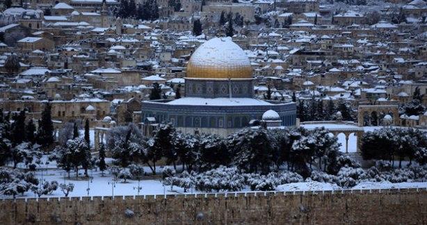 Nieve sobre Jerusalem