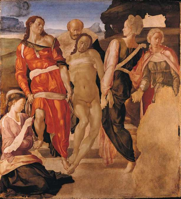 London National Gallery Top 20 07 Michelangelo - The Entombment