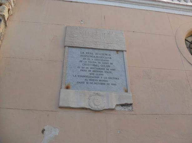 placa y plano  del Cádiz medieval