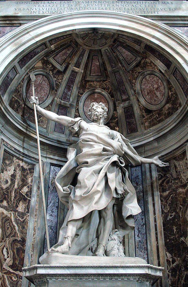 estatua de longino en san pedro de roma