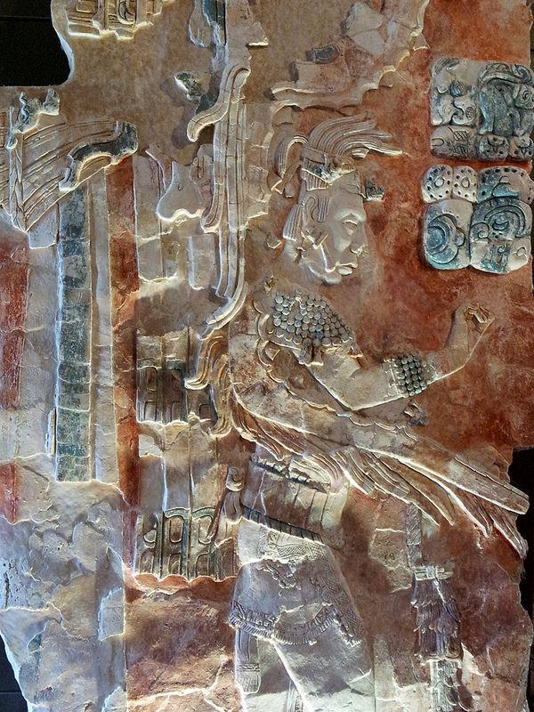 Estela de K'inich Janaab' Pakal en el Museo de Sitio de Palenque